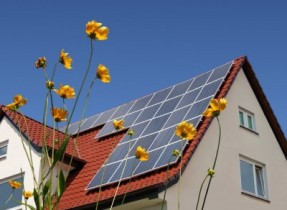 Rainwater and solar panels