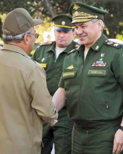 Cuban Gen. Leopoldo Cintra Frías and Sergei K. Shoigu meet in Havana.