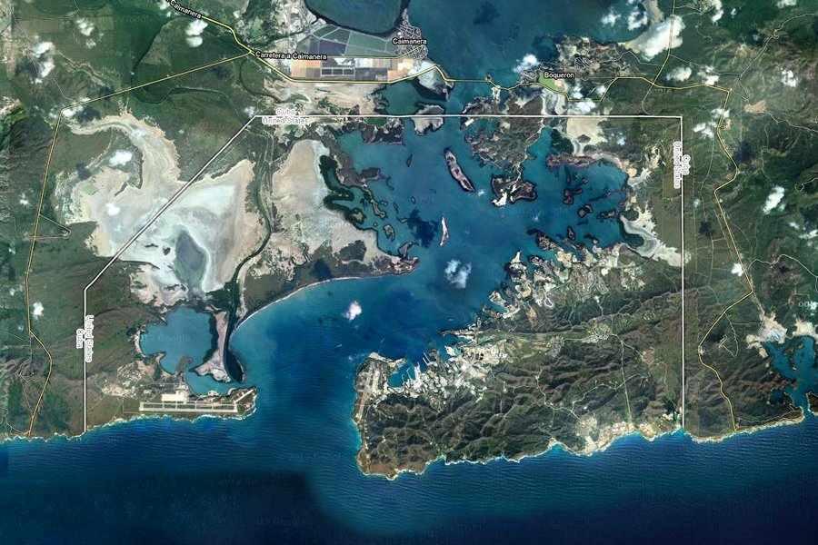 Satellite shot of Guantánamo, Cuba.