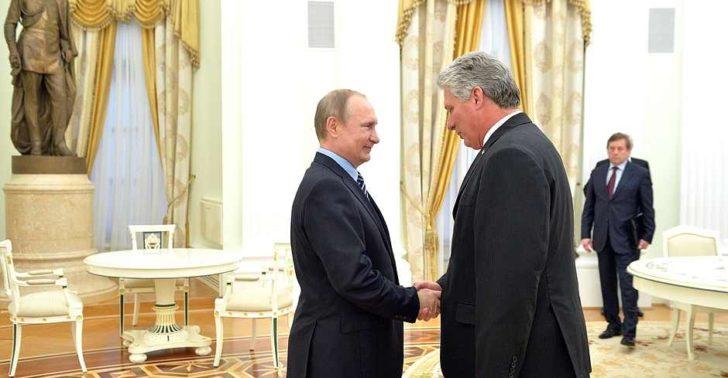 Putin welcomes Díaz-Canel to the Kremlin